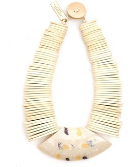 Gamma White Wooden Necklace