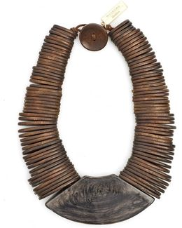Gamma Brown Wooden Necklace