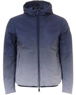 Faded Jacket, Reversible Hooded Navy Blue Jacket