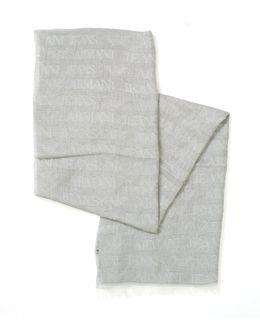 Grey All Over Logo Lightweight Scarf