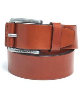 Jakab Tan Smooth Leather Belt
