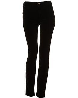 J20 Jeans, Velvet High Waisted Black Denim