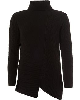 International Mondello Jumper, Roll Collar Black Sweater