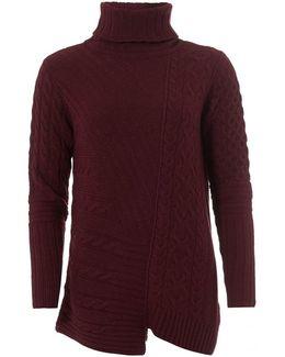 International Mondello Jumper, Roll Collar Barolo Sweater