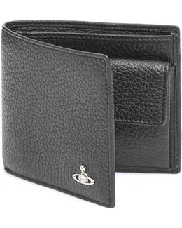 Cold Holder Grained Leather Black Wallet