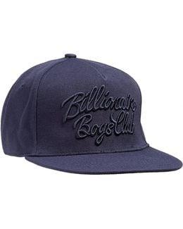 Script Logo Navy Blue Snapback Cap