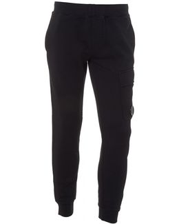Navy Blue Trackpants, Cuffed Lens Detail Sweatpants