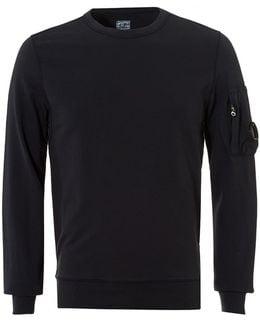 Lightweight Sweatshirt, Crew Neck Navy Sweat