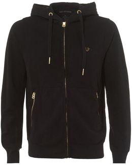 Black Fleece Gold Horseshoe Logo Zip Hoodie