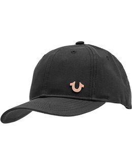 Horseshoe Logo Cap, Black Hat