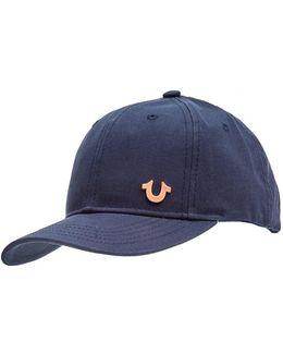 Horseshoe Logo Cap, Navy Blue Hat