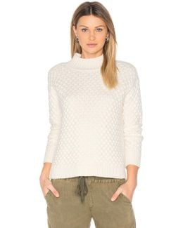 Honeycomb Turtleneck Sweater
