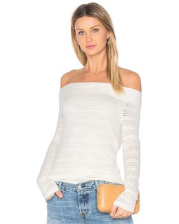 Off Shoulder Stripe Tee