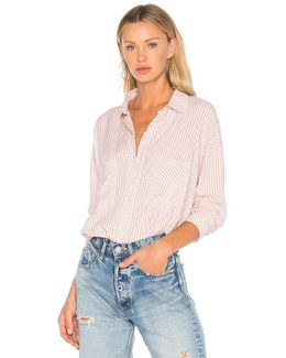 Patch Pocket High Low Blouse