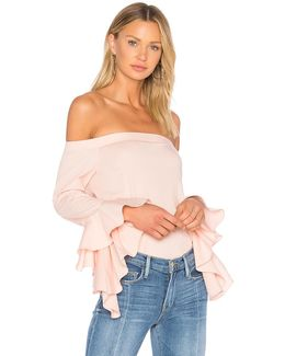 Off Shoulder Cascade Sleeve Top