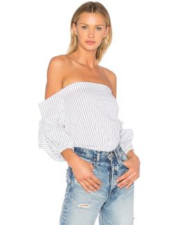 Off Shoulder Voluminous Sleeve Top