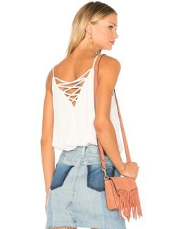 Spaghetti Strap Lattice Back Tank
