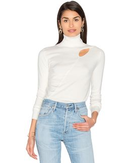 Cut-Out Jersey Sweater