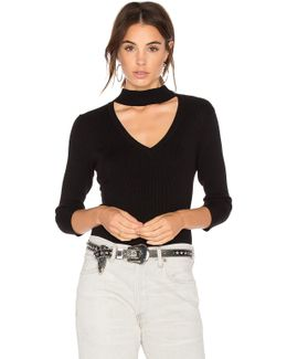 Rib Choker Sweater