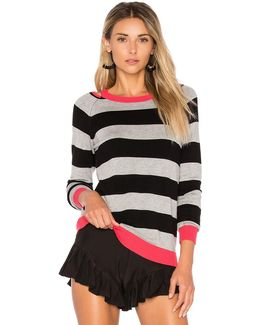 Cut Out Rugby Stripe Sweater