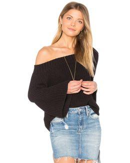 Off Shoulder Tulip Sweater
