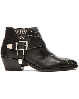 Studded Boots With Buckles
