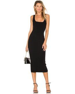Midi Square Neck Dress