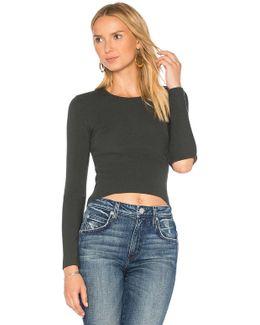 Slash Elbow Cropped Sweater