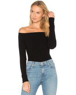 Ribbed Off Shoulder Sweater