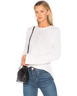 Ribbed Flare Sweater