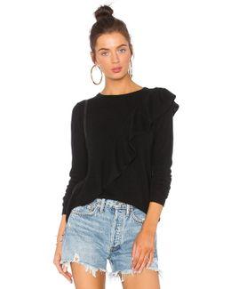 Asymmetric Ruffle Sweater