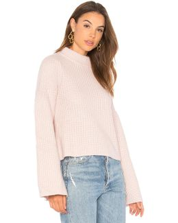 Cropped Mock Sweater