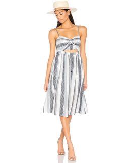 Ibiza Cut Out Front Sleeveless Striped Dress
