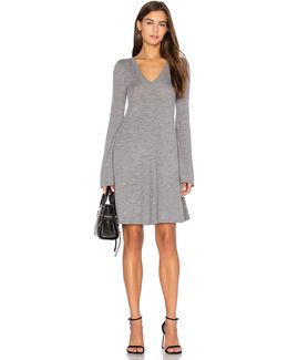 Flare Sleeve Sweater Dress