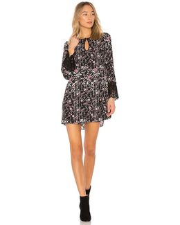 Shirt Dress With Lace Trim In Black Combo
