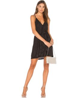 Surplice Dress In Black