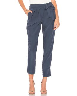 Wrap Front Trouser In Navy