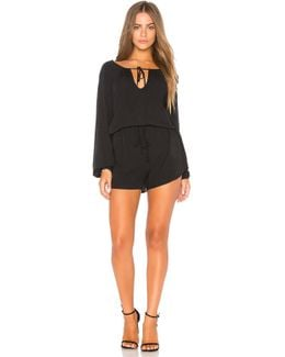 Pirate Blouse Romper In Black