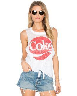 Coke Tie Front Muscle Tee