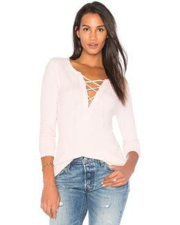 Thermal Lace Up Tee