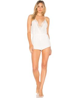 Genevive Charmeuse Lace Romper