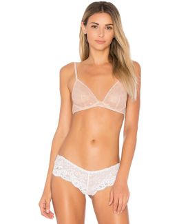 Star Mesh Triangle Underwire Bra