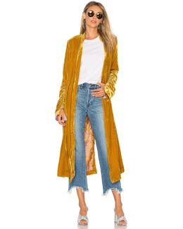 Dhalia Velvet Duster Coat