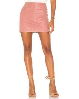 Modern Femme Vegan Suede Mini Skirt