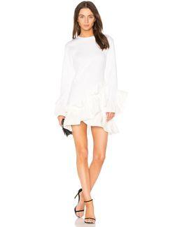 Poplin Ruffle Mini Dress