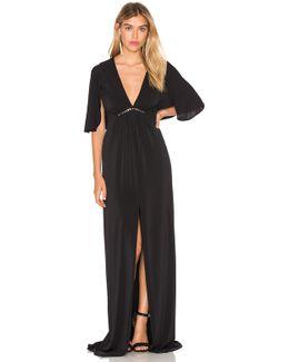 Flounce Sleeve Gown