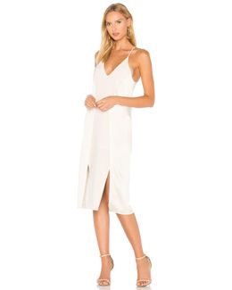 V Neck Slip Dress With Back Cut Outs