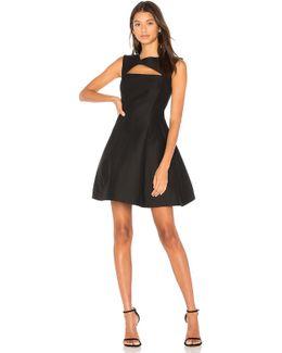 Asymmetrical V Neck Dress