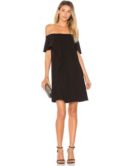 Cold Shoulder Asymmetrical Drape Dress