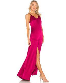 Slip Dress With Flowy Skirt
